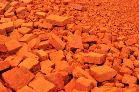 heap of red brick  photo