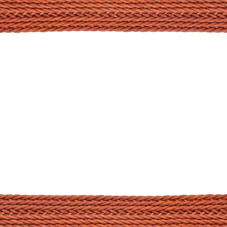 texture of Woven fashion belt isolated on white background photo