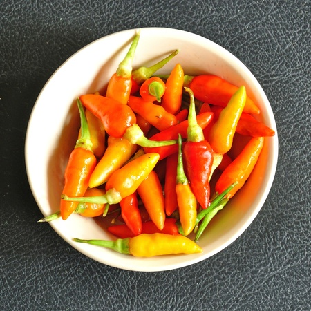 Colorful chili peppers  photo