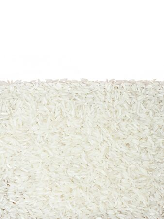 closeup of rice isolated on white background