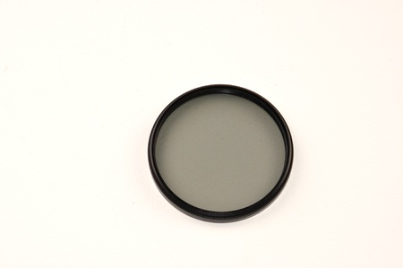 cir: circular polarized filter isolated on white background
