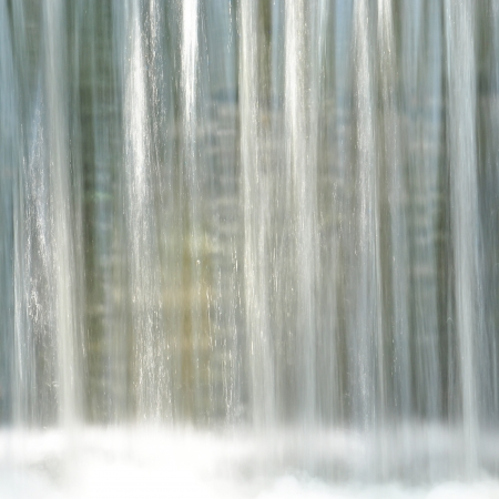 Close up of waterfall streaming down