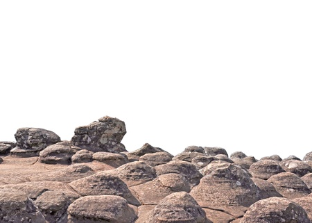 black giant mountain: Stone texture effected by windy isolated on white Stock Photo