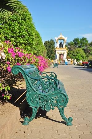 Classic chair with Ganesh memorial at Sanam Chandra Palace, Nakhon pathom, Thailand Stock Photo - 14822224