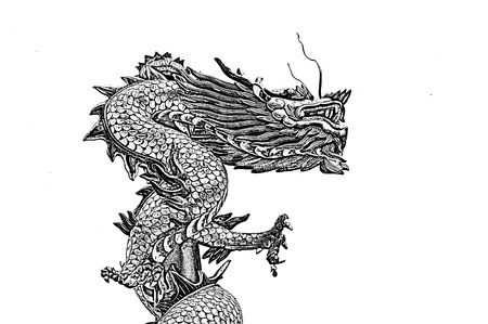 thai tattoo: Chinese Style Dragon statue