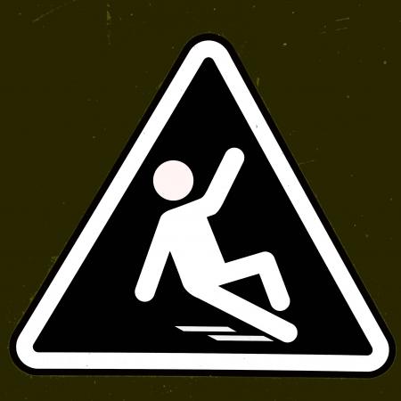 Slippery wet floor sign Stock Photo - 15319747