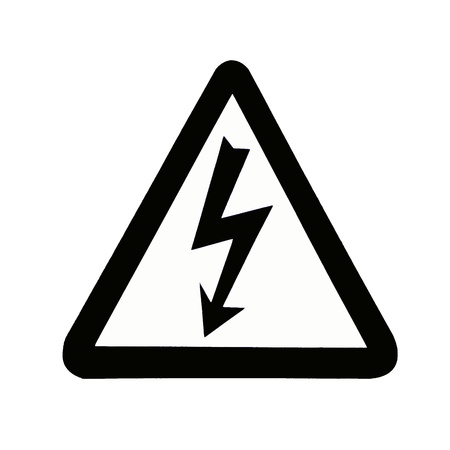 voltage sign: High Voltage Sign, Symbol Stock Photo