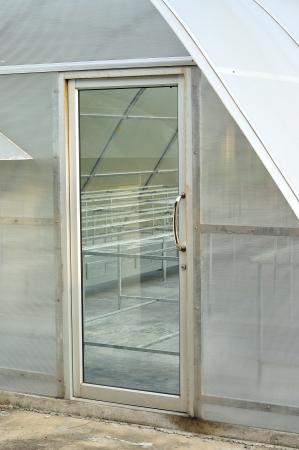 a solar energy plant for drying product, Greenhouse Stock Photo - 16152132