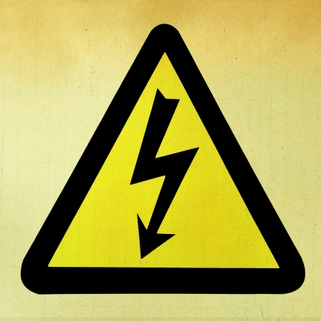High Voltage Sign in grunge style Stock Photo - 16260222
