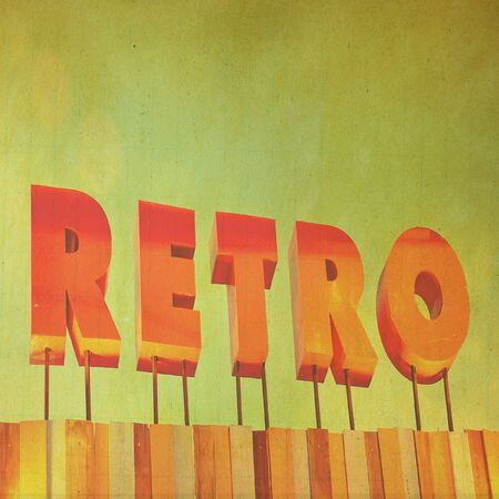 Text  Retro sign in grunge style Stock Photo