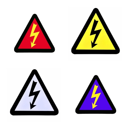 voltage symbol: Set of high voltage sign, high voltage symbol Stock Photo