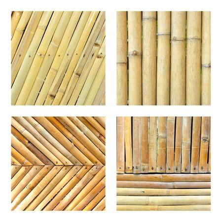 Set of bamboo fence, bamboo texture set Stock Photo - 16412622