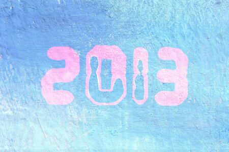Background of 2013 painted wall, textured background Stock Photo - 16720490