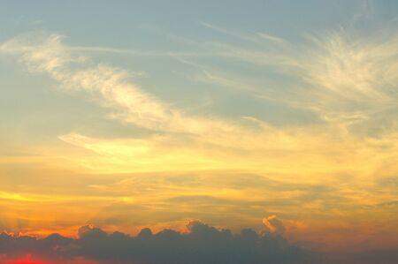 Dusk sky, Beautiful cloudscape  Stock Photo