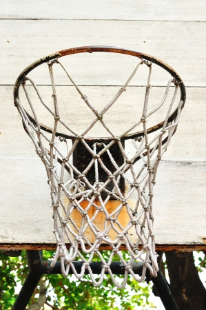 Close up of basketball hoop photo