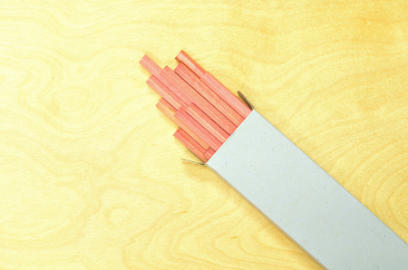 Wooden pencil of wood texture background