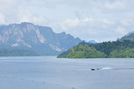hydro power: Rajjaprapha Dam in Surat Thani, Thailand, Hydro Power Electric Dam