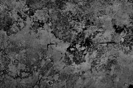 Grunge cement wall in black and white style for texture background