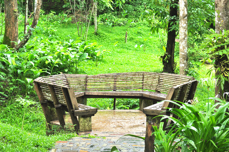 table mountain national park: Outdoor chair at Pacharoen waterfall national park, Tak, Thailand