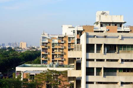 Apartment building at Bangkok, Thailand Stock Photo