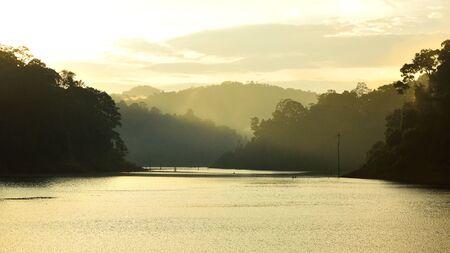 Silhouette forest landscape at Bang Lang National Park, Thailand Imagens - 85699902