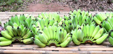 Banana fruit on bamboo background