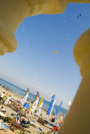 Imperia, Italy - April 10-11, 2010 - 11� Edition of the International Festival of the Kites. Stock Photo - 6896482