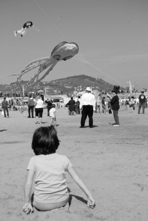 Imperia, Italy - April 10-11, 2010 - 11� Edition of the International Festival of the Kites. Stock Photo - 6896483