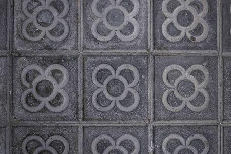 Barcelona tiles Typical design of the sidewalks of Barcelona