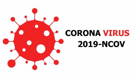 Corona virus is spreading across the world. This virus illustration is for any kind of use. Red color uses for warning sign. Stay Home.