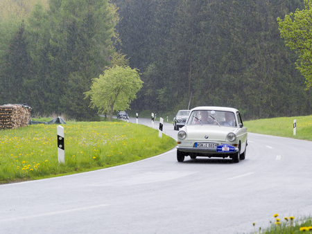 Brilon, Germany - May 13th in 2017: BMW 700 LS on Oldtimer Sauerland round trip
