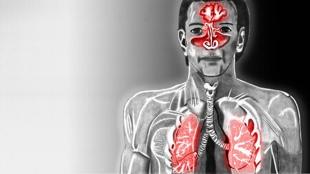 Cold upper respiratory tract copy space to the left of 16 to 9