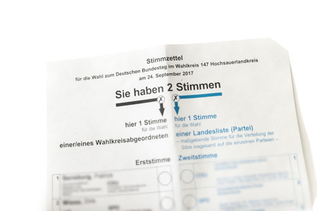 voting card for the German government