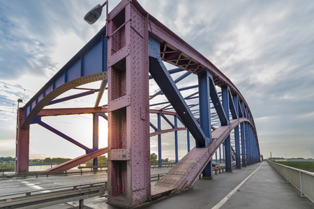 Duisburg, Germany - August 1st 2017: Road bridge Karl-Lehr-Brücke in Duisburg Publikacyjne