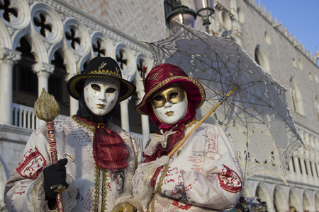 Venice Carnival - Couple of Venetian Masks