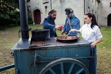 cappella: Cocina en la cocina militar móvil, Cappella Maggiore, Italia