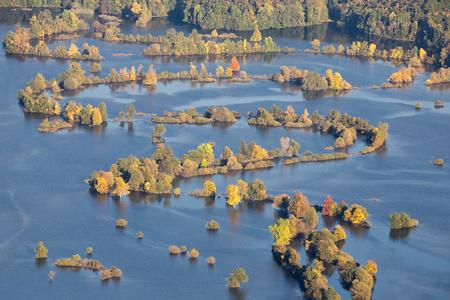 Season Flood - River overflowed - Flooded fields of Planinsko polje, Slovenia 写真素材