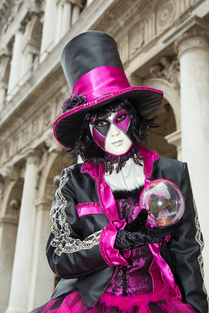 Venice Carnival - Female Venetian Mask with Magic Ball