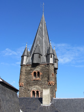 attraktion: old tower in Bernkastel  Germany Stock Photo