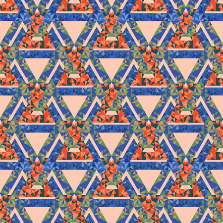Bright seamless pattern red blue pink Vector