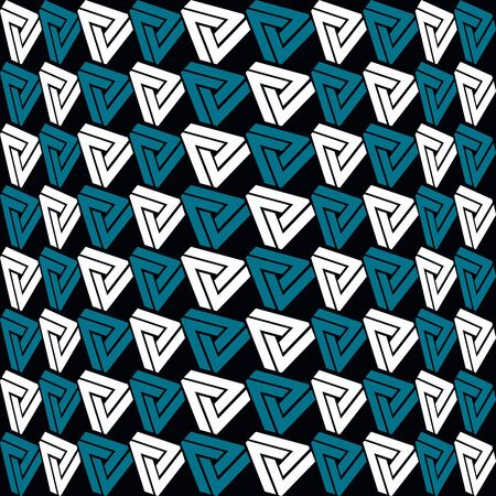 psychical: Incredibly Triangles pattern on black background