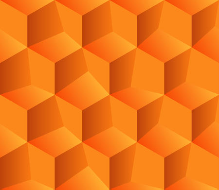 Abstract seamless background with cube decoration Çizim