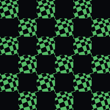 Art Deco Pattern Of Geometric Elements. Seamless Pattern. Vector Illustration. Design For Printing, Presentation, Textile Industry. green black color