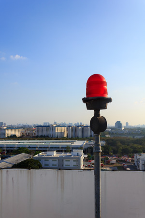 obstruction: Obstruction light on rooftop