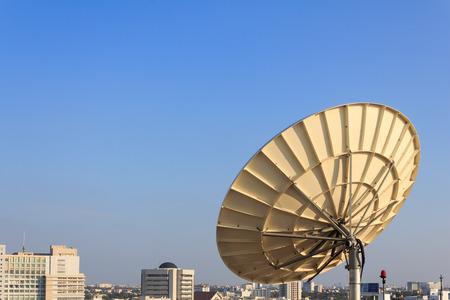 antena parabolica: Antena parab�lica de Telecomunicaciones
