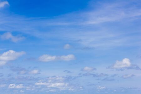 Fantastic soft white clouds and blue sky  background,Beautiful sky.