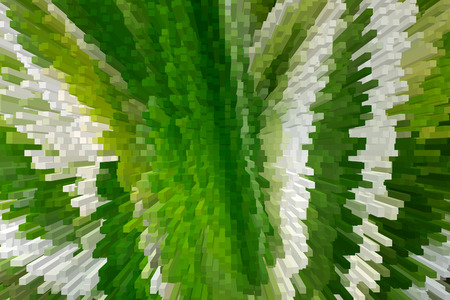 Abstract green light background with 3D extrude effect.