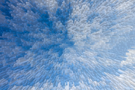 Blue sky 3D extrude blocks pattern background, Abstract blue sky background.