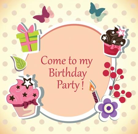 Birthday party invitation card royalty free cliparts vectors and birthday party invitation card filmwisefo