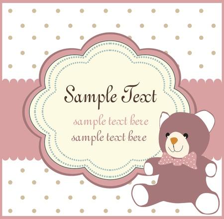 baby birthday: vector baby shower card